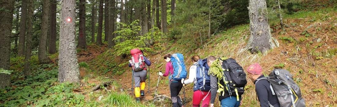 Практична обука за планинарски водичи – жени, во Категорија А1