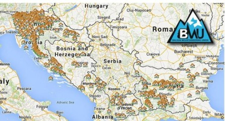 Balkan mountaineering union Mountain huts and bivouacs